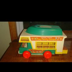 Love these old fisher price toys    I have this in my sun room / play room now - LG