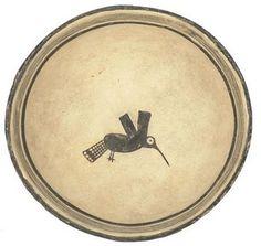 Mimbres pottery bowl, circa 1200 A. Ceramic (Mimbres black-on-white type); Mimbres people, Mogollon culture, New Mexico (USA), c. Native American Pottery, Native American Art, Ceramic Clay, Ceramic Plates, Pottery Plates, Ceramic Pottery, Cerámica Ideas, Southwest Pottery, Pueblo Pottery