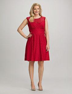 97e5ce79f82 Plus Size Red Lace Dress Dress Barn Dresses