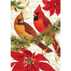 Holiday Cardinals Outdoor Flag