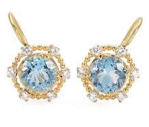 Aquamarine Sonata Diamond Earrings