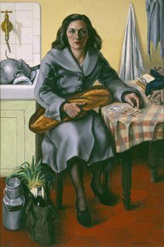 Return from the Market.(1950). ANDRÉ FOUGERON'S. (1913-1998)  Artista francés que cultivó en su obra el realismo socialista.