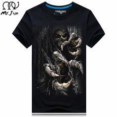 2016 nueve Tamaño de las gotitas de Agua movimiento camisetas impresas, punk de manga corta T-shirt S-5XL, 20 estilo de Los Hombres de la camiseta de los hombres
