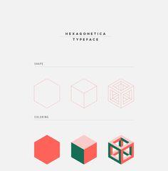 Perhaps a little Escher in your type? HEXAGONETICA Typeface on Behance