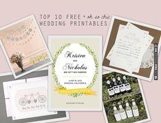 Top 10 Free Wedding Printables   Bridal Musings   CHECK OUT MORE IDEAS AT WEDDINGPINS.NET   #weddings #weddinginspiration #inspirational