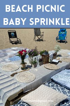 Our beautiful baby sprinkle celebration at our favorite place...the beach! #babysprinkle #babyboy #beachthemed #babyshower #beachpicnic