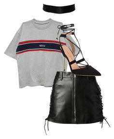 """""""Untitled #368"""" by fa-ye ❤ liked on Polyvore featuring Yves Saint Laurent and Kurt Geiger"""