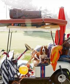 Love an outfitted golf cart