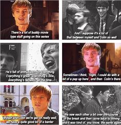 Merlin: Bradley talking about on and off screen friendship with Colin. I adore these two.