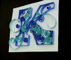 quilled monogram letter K...