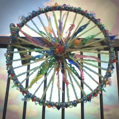 up-cycled bike wheel Recycled Garden Art, Recycled Art Projects, Group Art Projects, Cool Art Projects, Sculpture Projects, Sculpture Art, Takoma Park, Trash Art, Yoga Art
