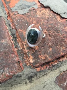 Handmade Sterling Silver and Seraphinite Statement Ring by AURAVEDASF on Etsy