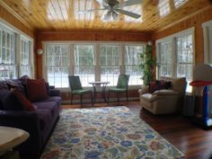 LL Bean inspired 3 season room #realestate #realestatenh #3seasonporch #bownh #homeforsale