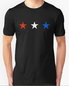 Get our Red, White and Blue Stars shirt from our Redbubble store today. Great way to show off your love for America and the Stars!!!