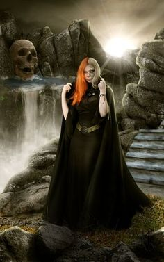 """Hel Daughter of Loki and Goddess of the underworld in Asatru. to """"go to Hel"""" is to die. Hel was appointed by the god Odin as ruler of a realm of the same name, located in Niflheim. Hel plays a key role in the attempted resurrection of the god Baldr."""