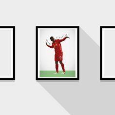 Daniel Sturridge Liverpool FC Football Print by MarkMcKenny, £10.50