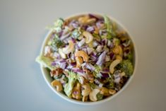 Brokkolisalat – Fru Haaland Potato Salad, Cabbage, Potatoes, Vegetables, Healthy, Ethnic Recipes, Food, Potato, Essen