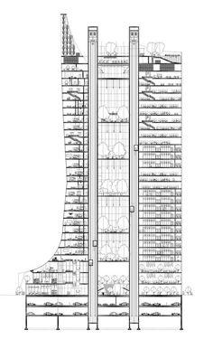 hotel floor plan Super apartment floor plan high r - hotel The Plan, How To Plan, Office Floor Plan, Hotel Floor Plan, Office Building Plans, High Rise Building, Parking Plan, Architecture Résidentielle, Planer Layout