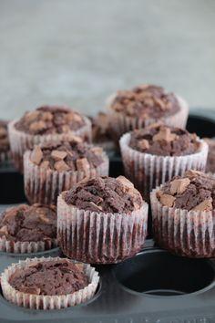 Chokladmuffins med chokladbitar – Fikastunder