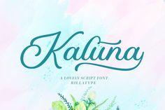 Kaluna (Font) by Rillatype · Creative Fabrica Handwritten Fonts, Script Fonts, All Fonts, Instagram Font, Wedding Script, Premium Fonts, School Design, Hand Lettering, Wedding Invitations
