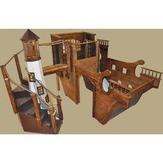 Pirate Ship Playhouse w' Light House