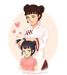 papabay: ilovemynakama: Headcanon Himawari thinks Aunt Tenten is the coolest because she has the cutest hairstyle so she asks her to tie her hair in buns to look like her :'3 sqjhfjdksh I'm still not over the last chapter xD oMG