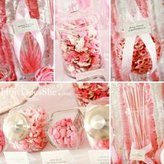 Pink Candy Buffet Ideas - might need this for a girl's baby shower =)