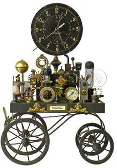 Whimsical Clocks: The ??.  By Roger Wood