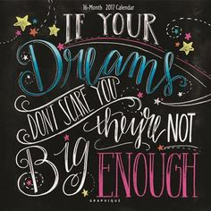 Chalk Art Chalkboard Art If Your Dreams Dont Scare You Dream Big Inspirational Quote Chalkboard Sign Graduation Quote Motivation Schablonen Blackboard Art, Chalkboard Print, Chalkboard Lettering, Chalkboard Designs, Chalkboard Quotes, Chalkboard Doodles, Chalkboard Calendar, Chalk Marker, Doodle Pattern