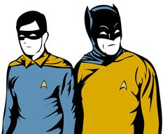 Finally combined my love for Batman with my love for Star Trek. I don't know if I should Pin this in my Batman Board or in my Star Trek board. (Drawn in Photoshop, vectorized in Illustrator)