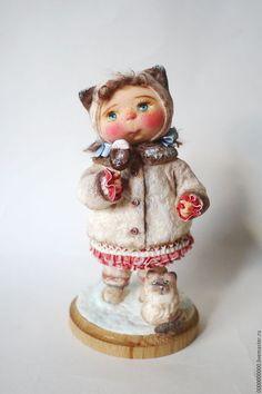 Коллекционные куклы ручной работы. Ярмарка Мастеров - ручная работа. Купить авторская кукла Маруся. Handmade. Ватная игрушка, котик