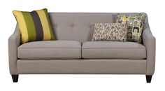Contemporary Sleeper Sofa with Button Tufting and Memory Foam Mattress