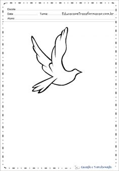 Desenhos De Pombas Dove Drawing, Peace Dove, Colouring In