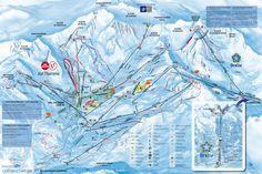 Val Thorens Piste Map (High resolution / .JPEG) #valthorens #lestroisvallees #skiing #france