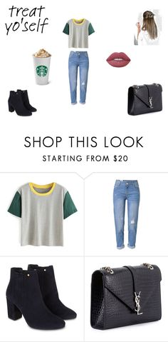"""Simple As This"" by lilymadoxx on Polyvore featuring WithChic, Monsoon, Yves Saint Laurent and Lime Crime"