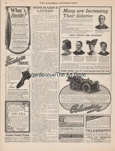 1903 Electric Vehicle Co Hartford CT ~ Columbia Gasoline Touring Motor Car Ad