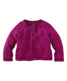 Look what I found on #zulily! Cosmic Berry Friederike Cardigan - Infant, Toddler & Girls #zulilyfinds