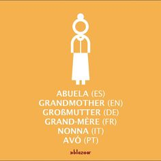 #Abuela #Grandmother #Großmutter #GrandMère #Nonna #Avó