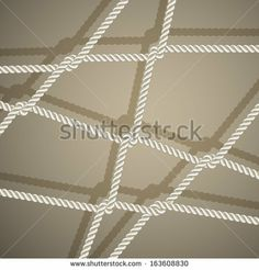 Stylish background with rope. Vector illustration by tassel78, via Shutterstock