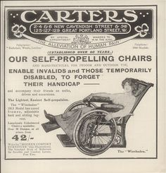 Carters Self-Propelling Wheel Chairs, 1913