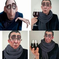 Anton Ego cosplay is fantastic. I was thinking of being him while Steve and Micah were Linguini and Remy. Maybe another Halloween.