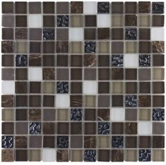 Mineral Tiles - Glass Mosaic Tile Dark Blend, $16.85 (http://www.mineraltiles.com/glass-mosaic-tile-dark-blend/)