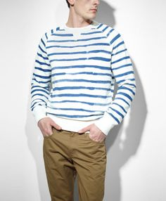 f7454c64a9c6 Irregular Striped Sweatshirt by LEVI Levis Jeans