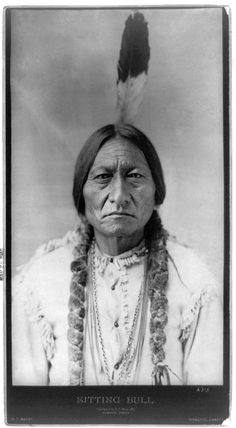 Today we feature a portrait of famed Sioux chief and warrior Sitting Bull. Sitting Bull is remembered as the man who defeated Custer and his. Native American Actors, Native American Pictures, Native American Symbols, Indian Pictures, Native American History, American Indians, American Women, American Art, Sitting Bull