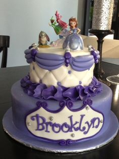 """A """"Sophia the First"""" birthday cake made specially for my granddaughter Brooklyn"""