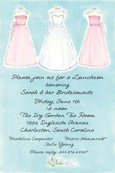 Having a Bridesmaid's Luncheon/Brunch is a cute idea!!