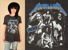 ViNtAgE 80's 90's Metallica Paper Thin Super by hellhoundvintage