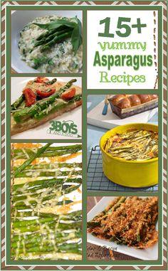 15+ yumming asparagus recipes - it's asparagus season - come get ideas