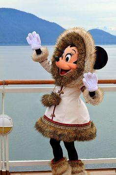 Mukluk Minnie on a Disney cruise to Alaska via the Disney Wonder. Book your cruise with our Disney specialists www.voltvacations.com