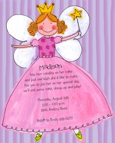 10 ballerina fairy princess invites